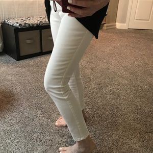 skinny white jeans ankle length